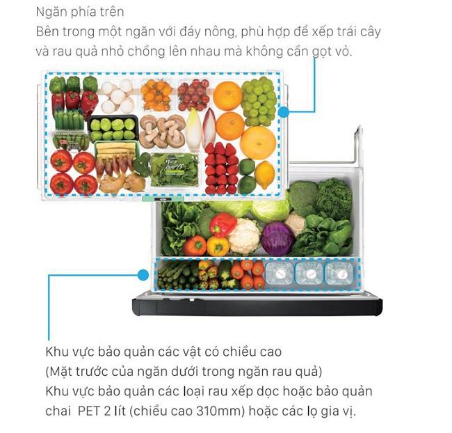 ngăn rau quả aero care trong tủ lạnh Hitachi
